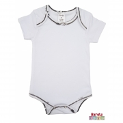 Body Bebê Manga Curta- Branco - Liso