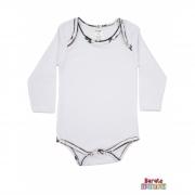 Body Bebê Manga Longa - Branco - Liso
