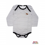 Body Bebê Manga Longa (P/M/G) -Barato Bebê- Listrado