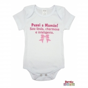 Body Bebê MC (P/M/G) - Puxei a Mamãe! - Barato Bebê - Branco