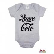 Body Bebê MC (P/M/G) - Quero Colo - Barato Bebê - Mescla
