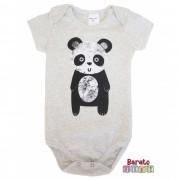 Body Bebê - Estampa de Panda - Mescla Banana