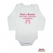 Body Bebê ML (P/M/G) -  Puxei a Mamãe - Barato Bebê - Branca