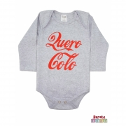 Body Bebê ML (P/M/G) -  Quero Colo - Barato Bebê - Mescla