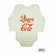 Body Bebê ML (P/M/G) -  Quero Colo - Barato Bebê - Off-White