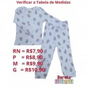 Conjunto Bebê - 100% Algodão - Canelado - Ursinho Bailarina - Menina (RN-P-M-G)