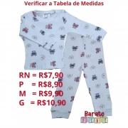 Conjunto Bebê - 100% Algodão - Canelado - Ursinho (RN-P-M-G)