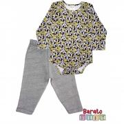 Conjunto de Inverno Bebê Body e Calça (P/M/G) - Barato Bebê