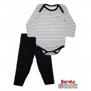 Conjunto de Inverno Bebê Body e Legging (P/M/G) - Barato Bebê