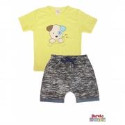 Conjunto Infantil Menino Amarelo - Dog