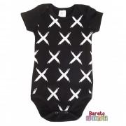 Body Bebê com Estampa X-Full - Preto