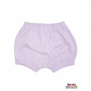 Shorts(Tapa Fralda) Bebê(P/M/G)  - Barato Bebê -Lilás c/ Glitter
