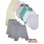 Kit Essencial Barato Bebê - 10 Peças