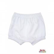 Shorts(Tapa Fralda) Bebê(P/M/G)  - Barato Bebê - Branco