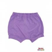Shorts(Tapa Fralda) Bebê(P/M/G)  - Barato Bebê - Lilás c/ Glitter