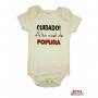 Body Bebê MC (P/M/G) - Cuidado! Alto Nível de Fofura - Barato Bebê - Off White
