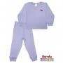 Conjunto Pijama Longo Bebê (P-M-G-GG)- Barato Bebê - Lilás