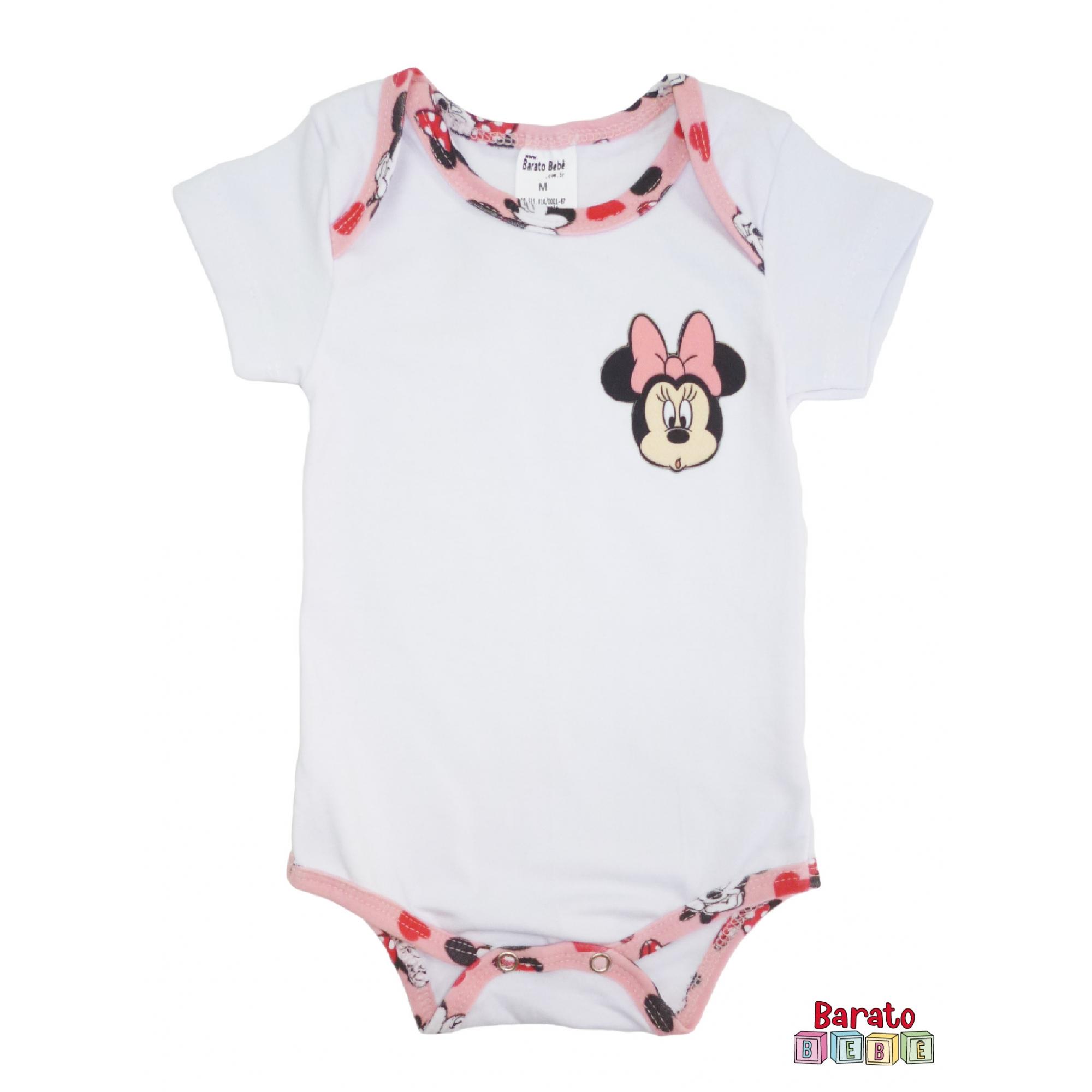 Body Bebê Manga Curta - Branco (P-M-G)