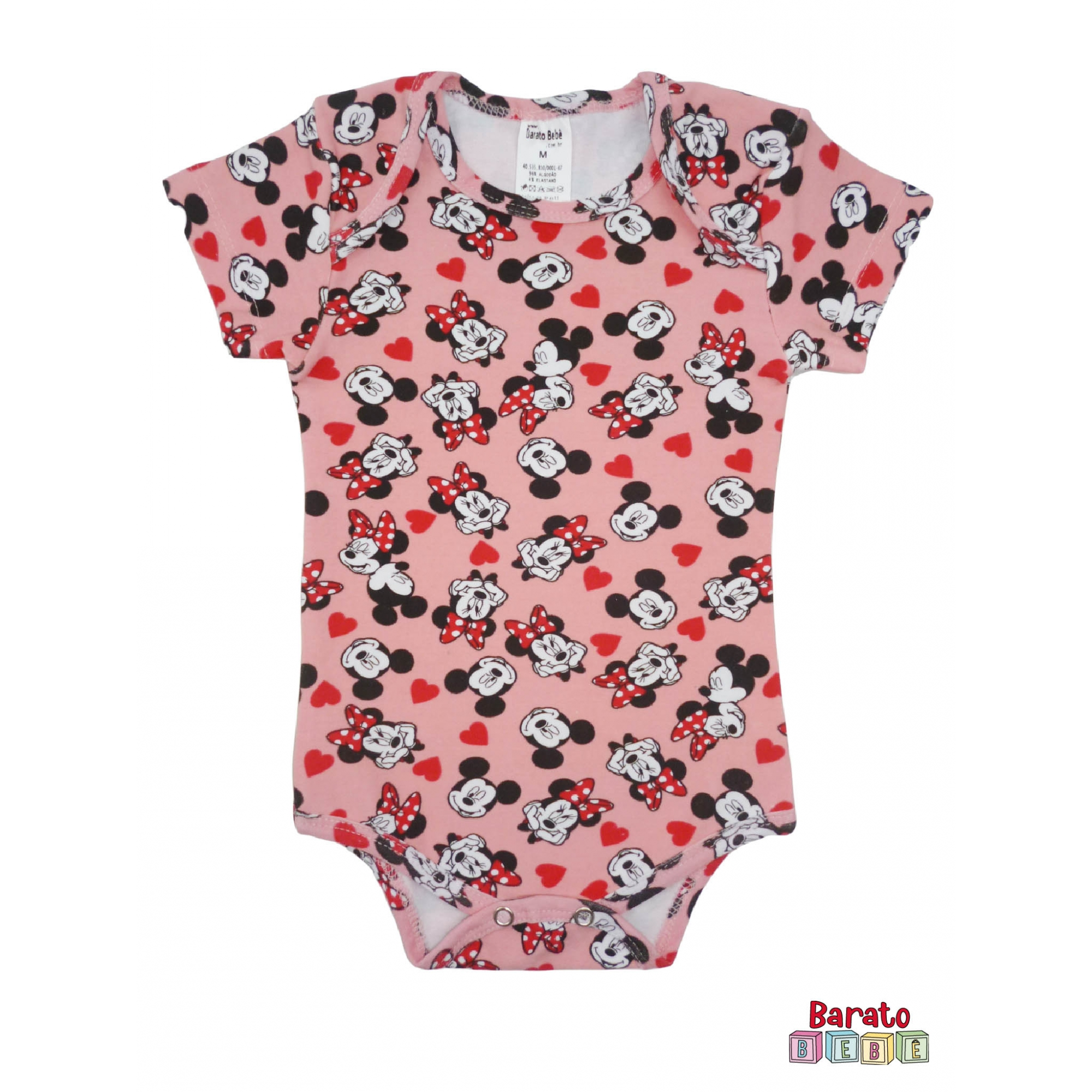 Body Bebê  Manga Curta - Menina