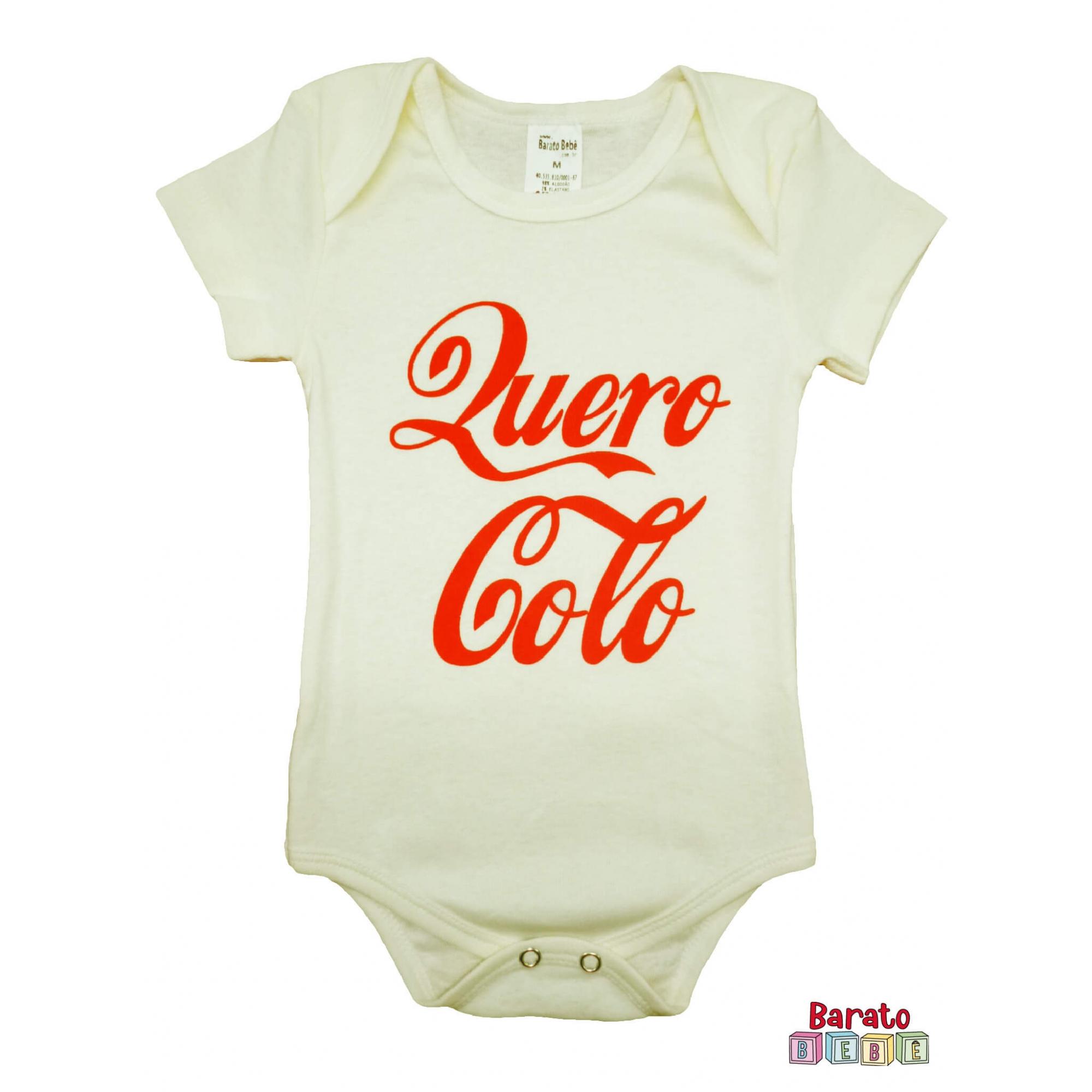 Body Bebê MC (P/M/G) - Quero Colo - Barato Bebê - Off White