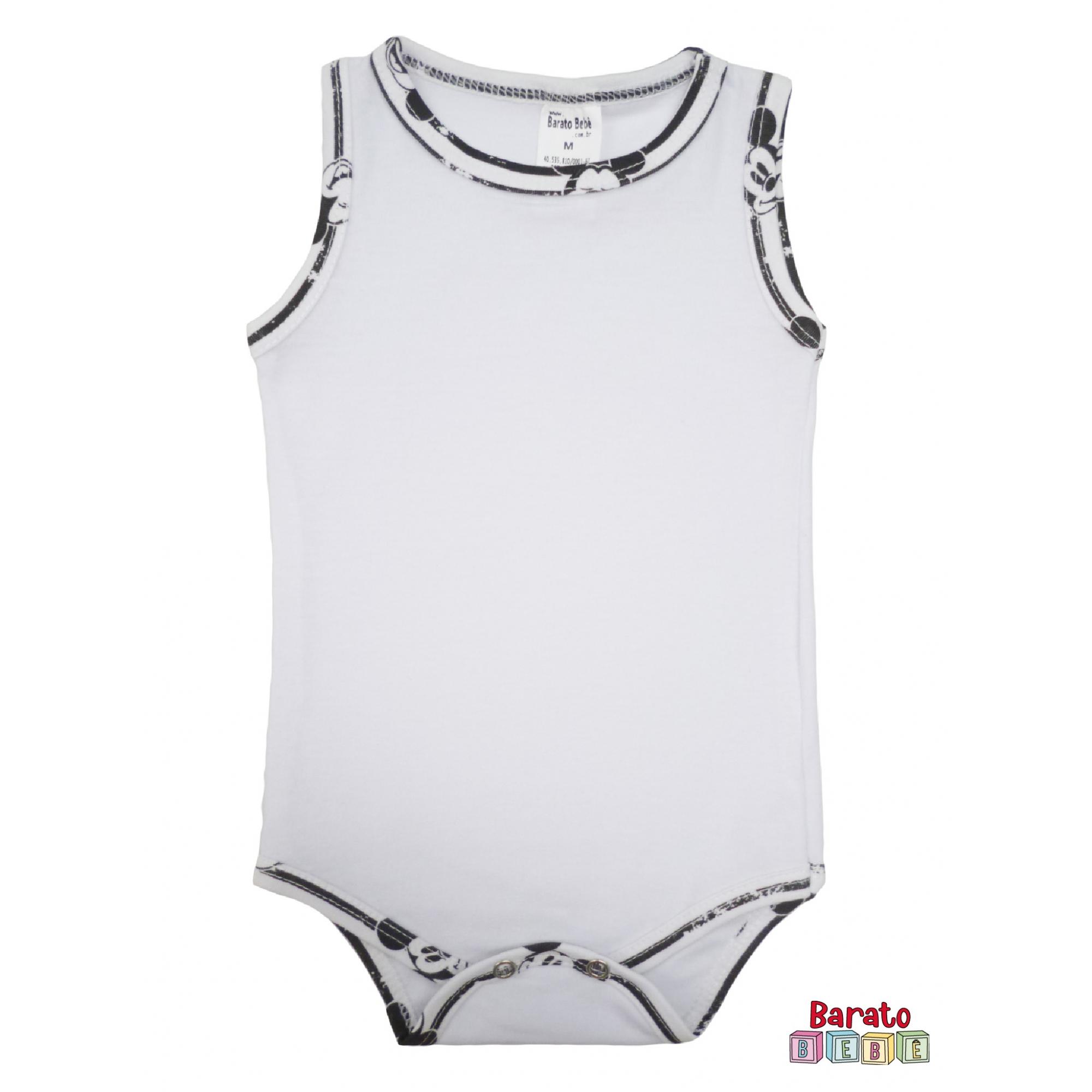 Body Bebê Regata - Branco - Liso
