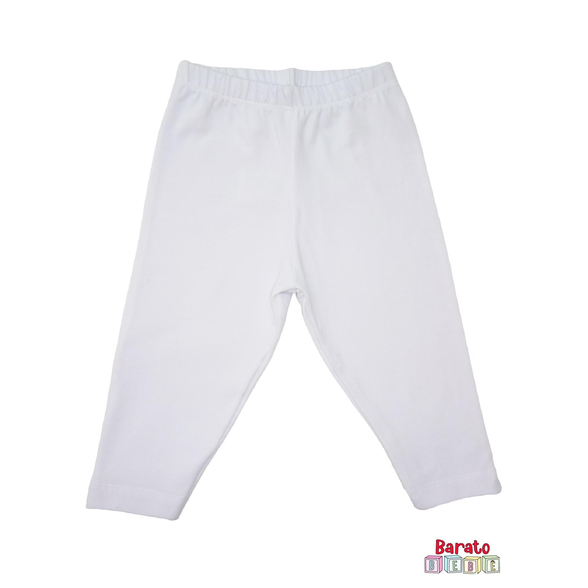 Calça Bebê Cotton Branco (P/M/G) - Mijão - Barato Bebê
