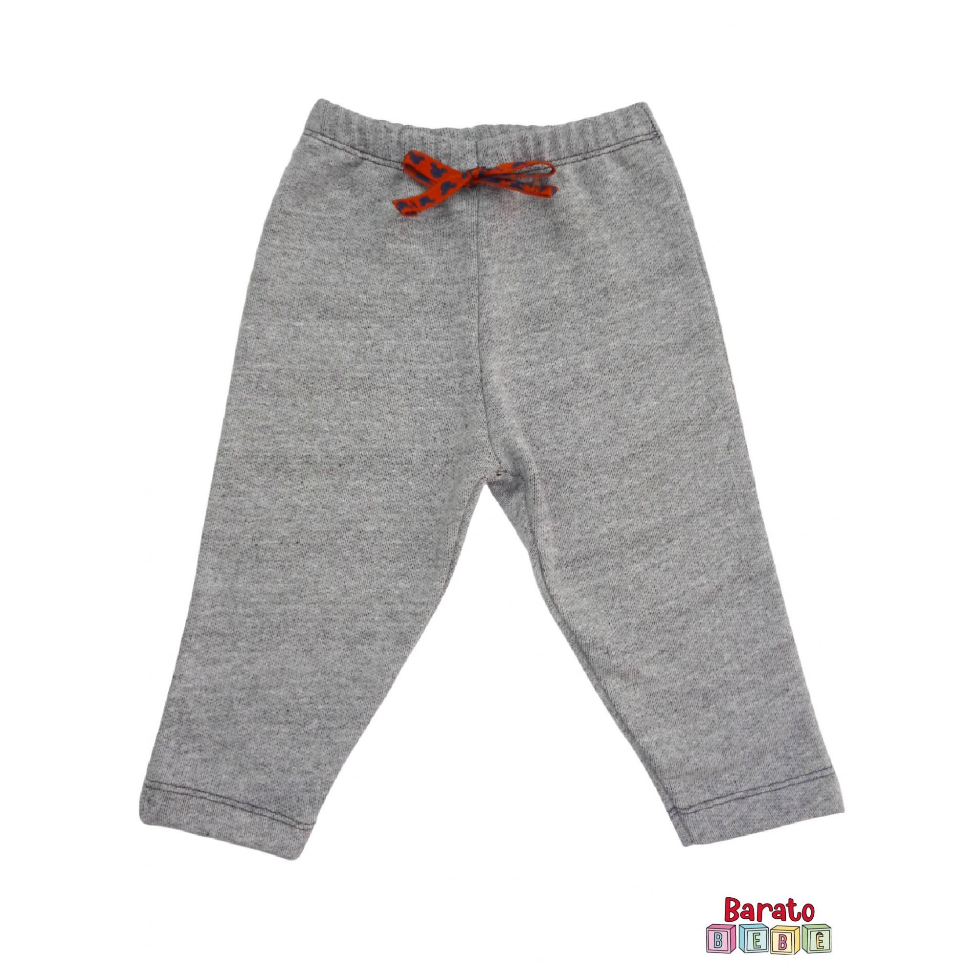 Calça Bebê Moletinho Mescla (P/M/G) - Mijão - Decorado - Barato Bebê