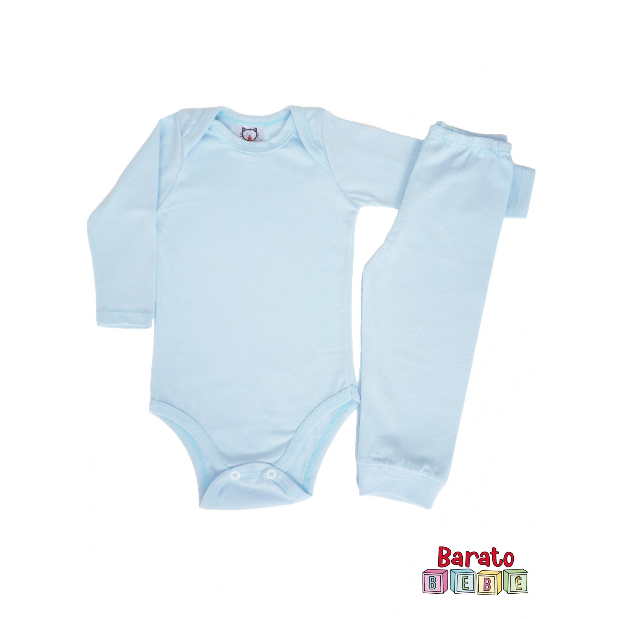Conjunto Body Bebê Menino – Azul