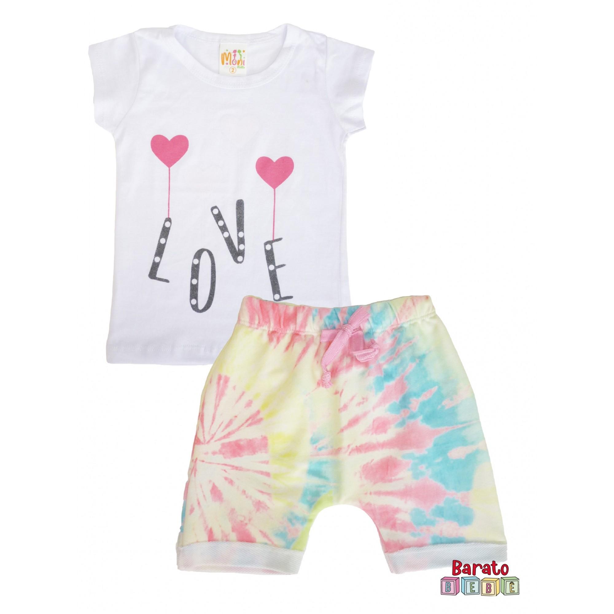 Conjunto Infantil Menina Branco - Love