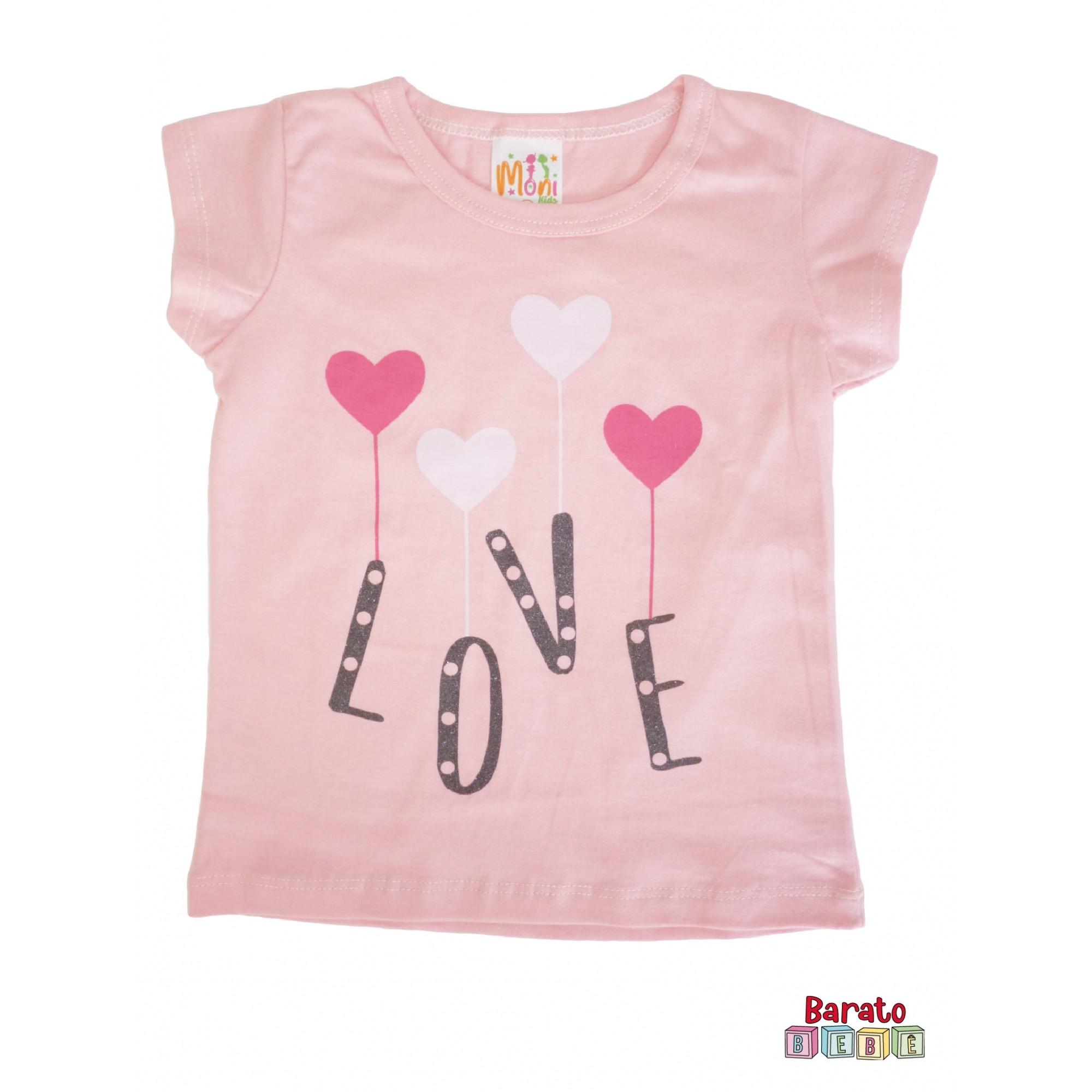 Conjunto Infantil Menina Rosa - Love
