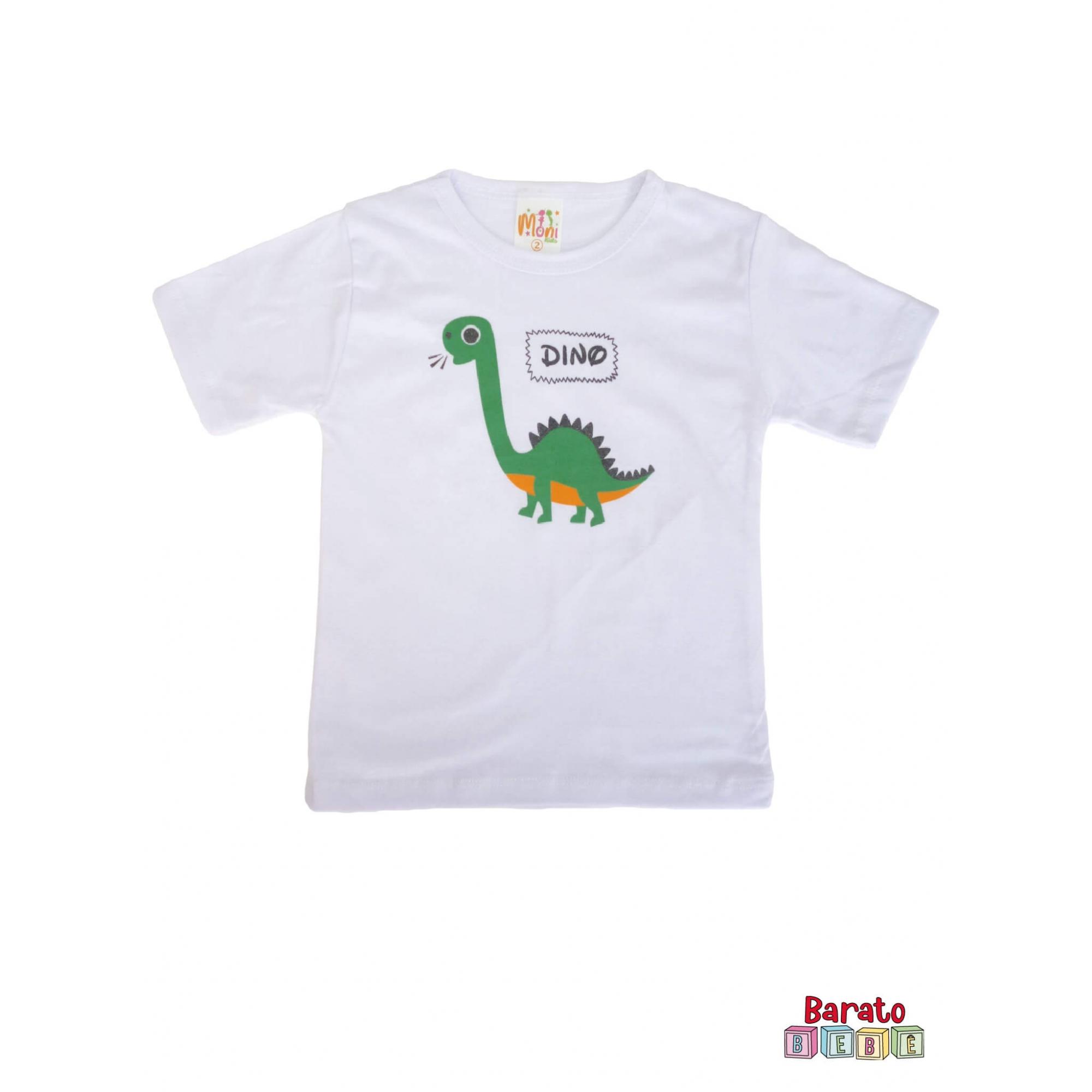 Conjunto Infantil Menino Branco - Dinossauro