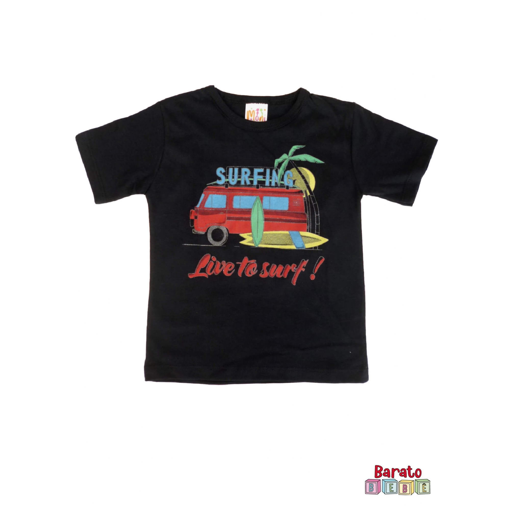 Conjunto Infantil Menino Preto - Surfing