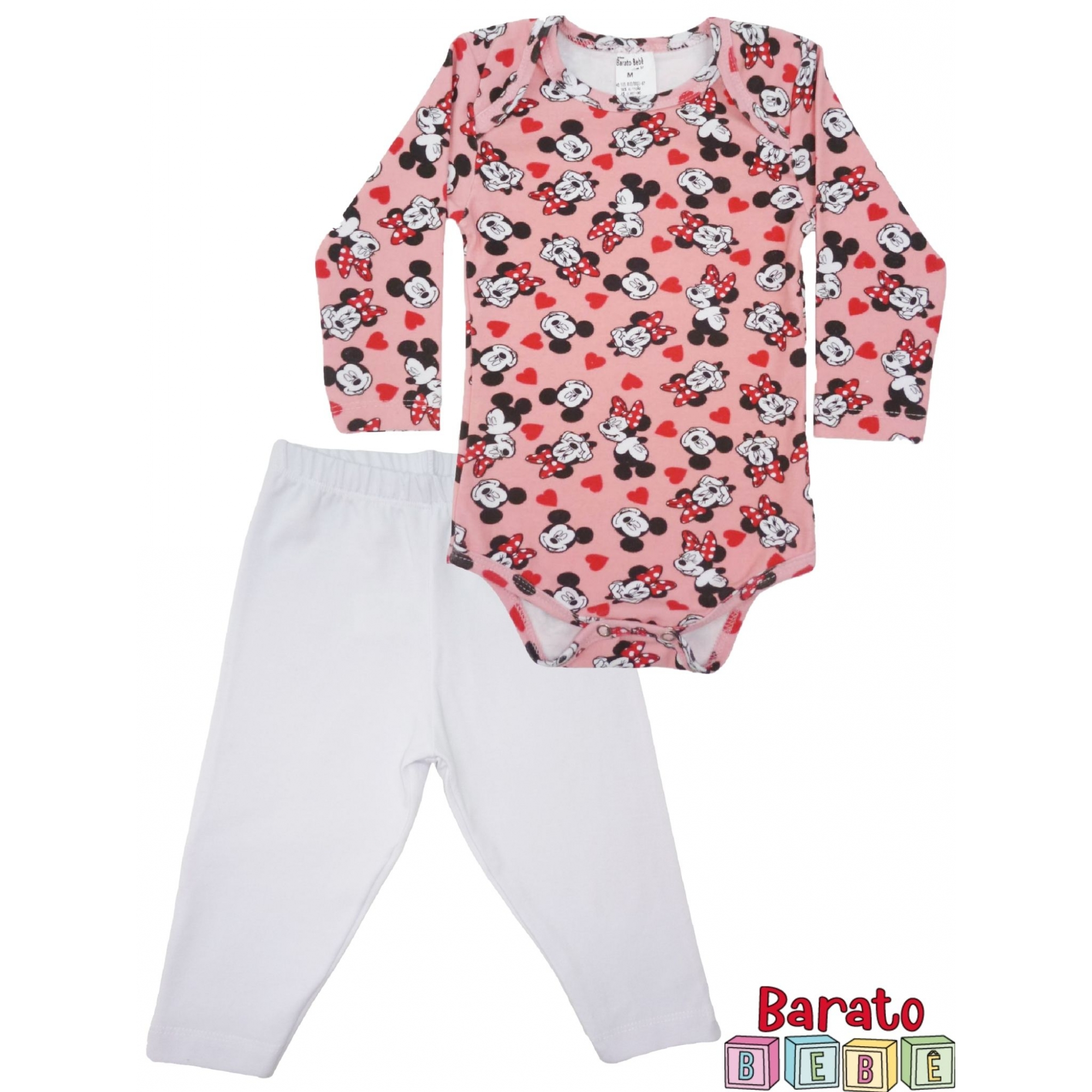Conjunto de Inverno Bebê Body e Calça - Barato Bebê