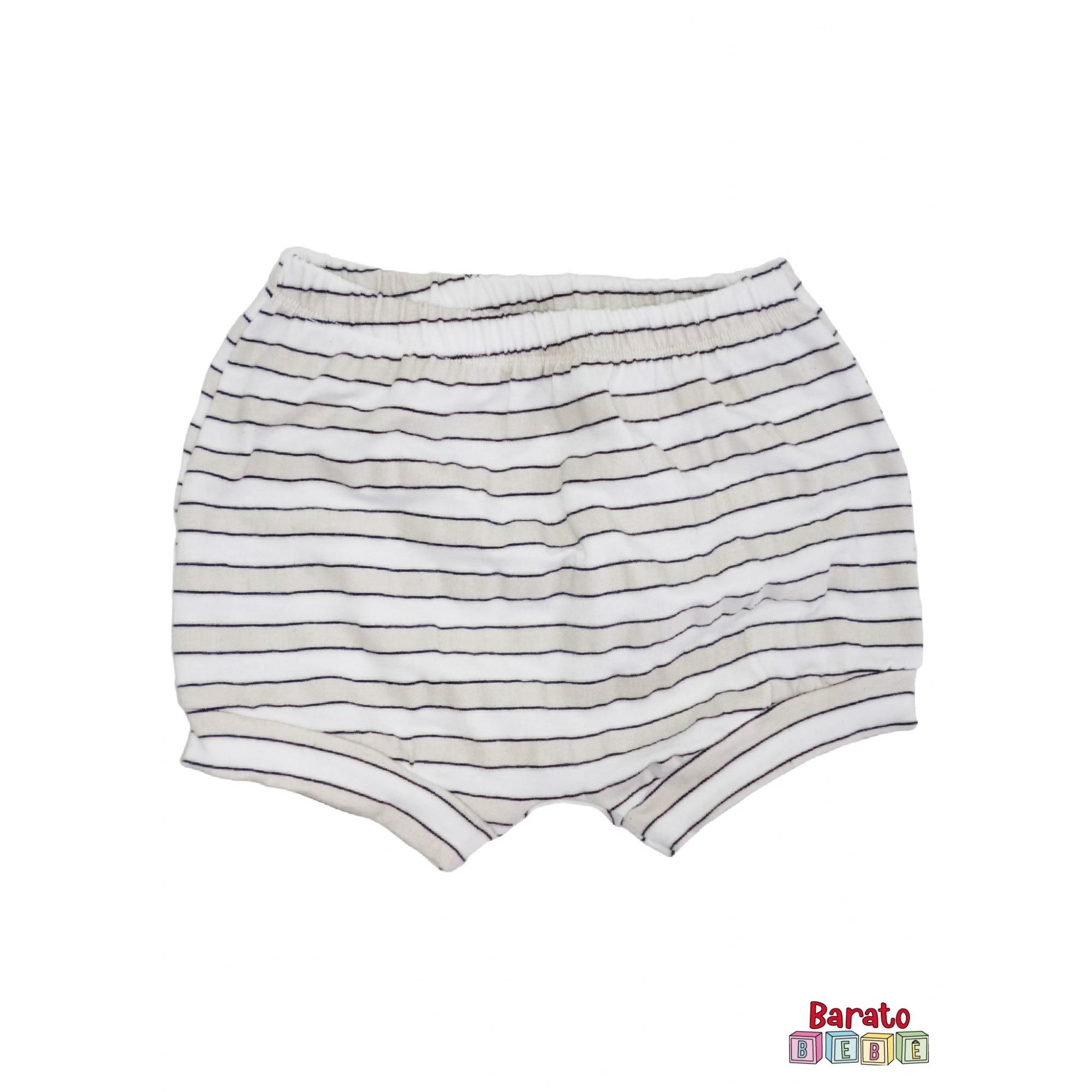 Shorts(Tapa Fralda) Bebê(P/M/G)  - Barato Bebê - Listrado