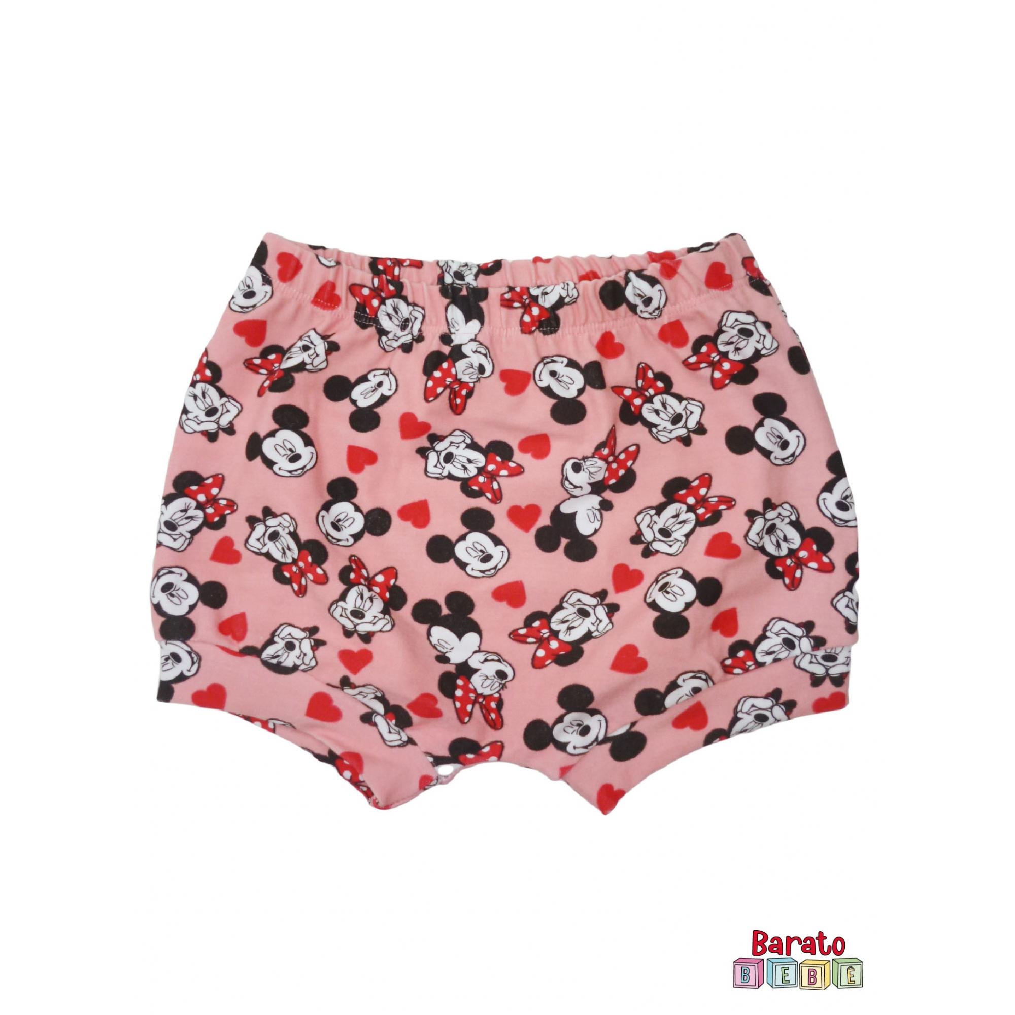 Shorts(Tapa Fralda) Bebê(P/M/G)  - Barato Bebê - Menina