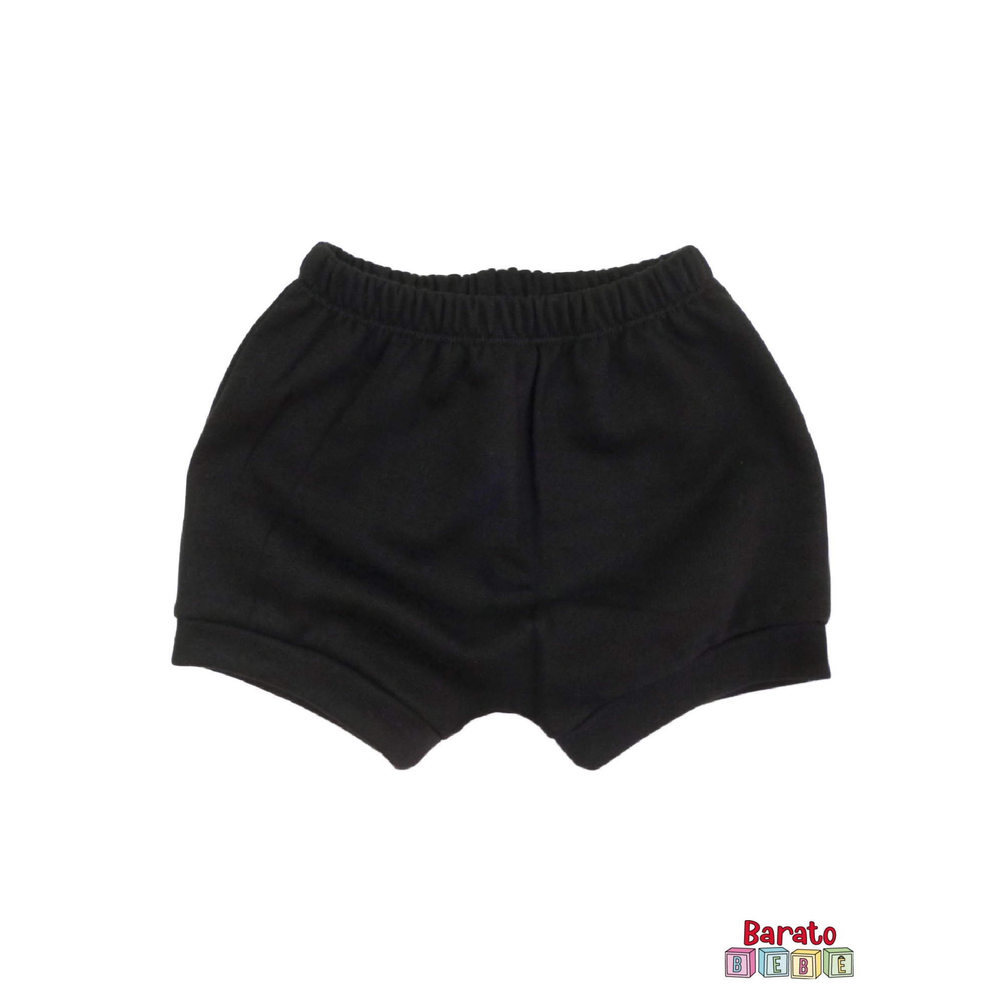 Shorts(Tapa Fralda) Bebê(P/M/G)  - Barato Bebê - Preto