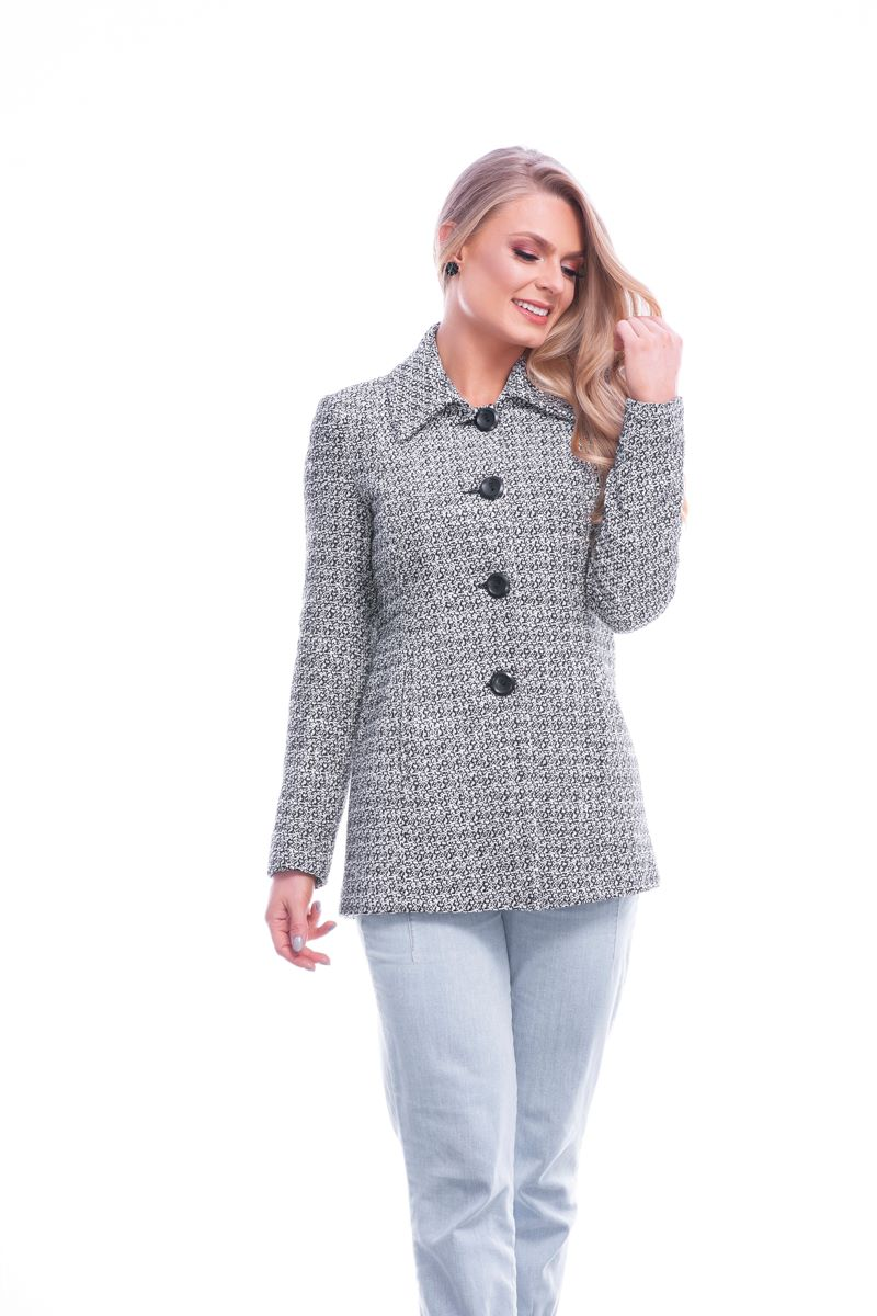 Blazer longo tweed