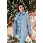 Blazer longo velour sintético Azul Neblina | Vanews