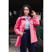 Camisa de moletom Pink oversized  | Vanews