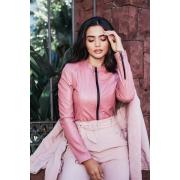 Jaqueta Perfecto PU Apeluciado Rosa | Vanews