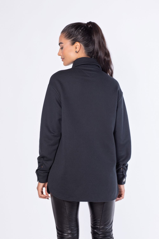 Camisa de moletom Preta oversized  | Vanews