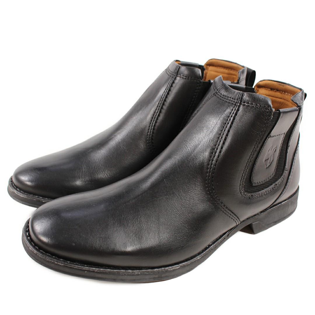 Bota Masculina WestFran Confort Preta/Canela