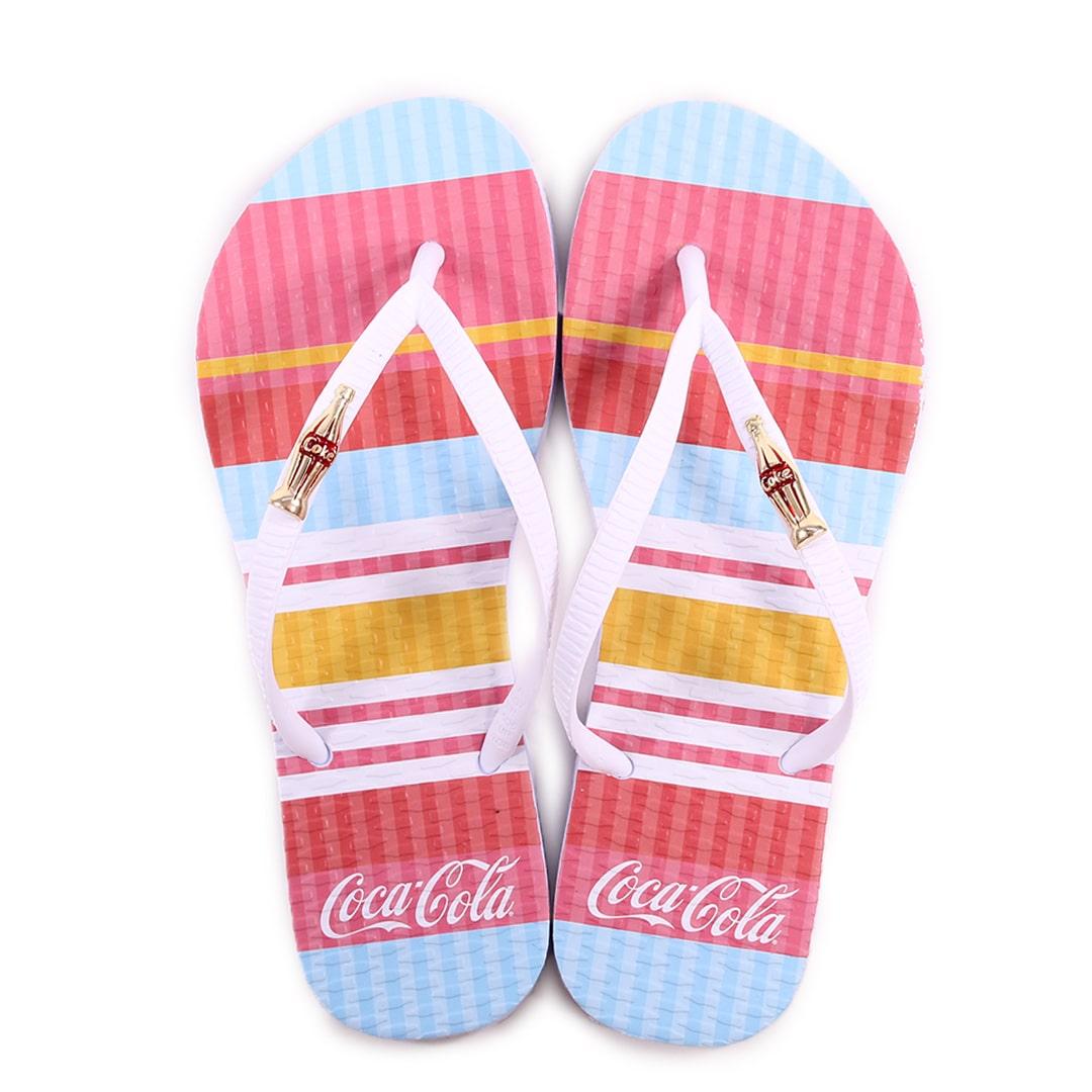 Chinelo Feminino Coca-Cola Colored Lines CC3134
