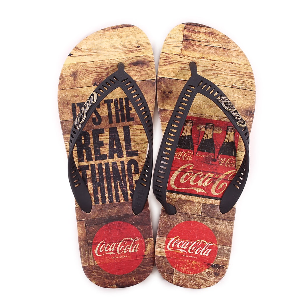 Chinelo Masculino Coca Cola Real Pack CC3100