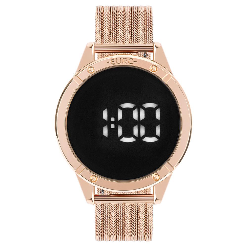 Relógio Euro Fashion Fit Touch Feminino Metal Rose