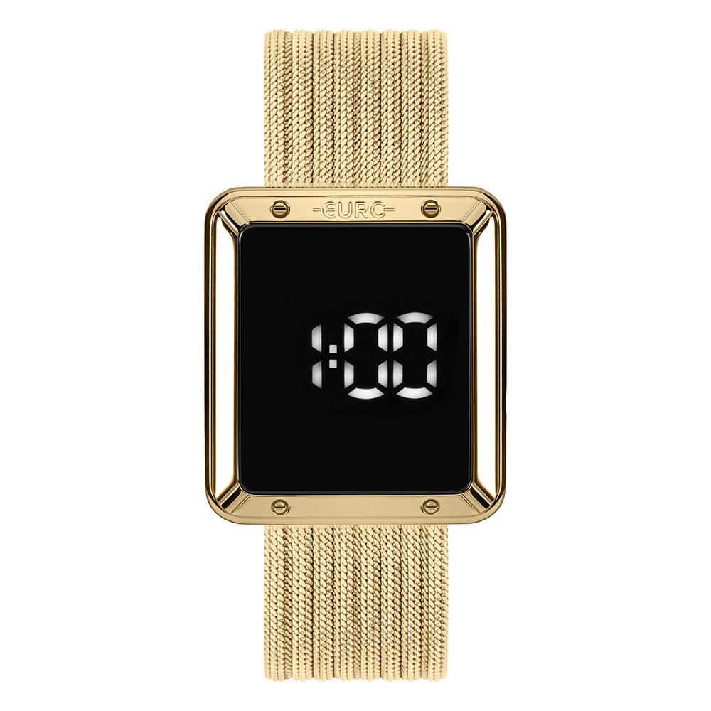 Relógio Euro Feminino Digital Touch Metal Dourado