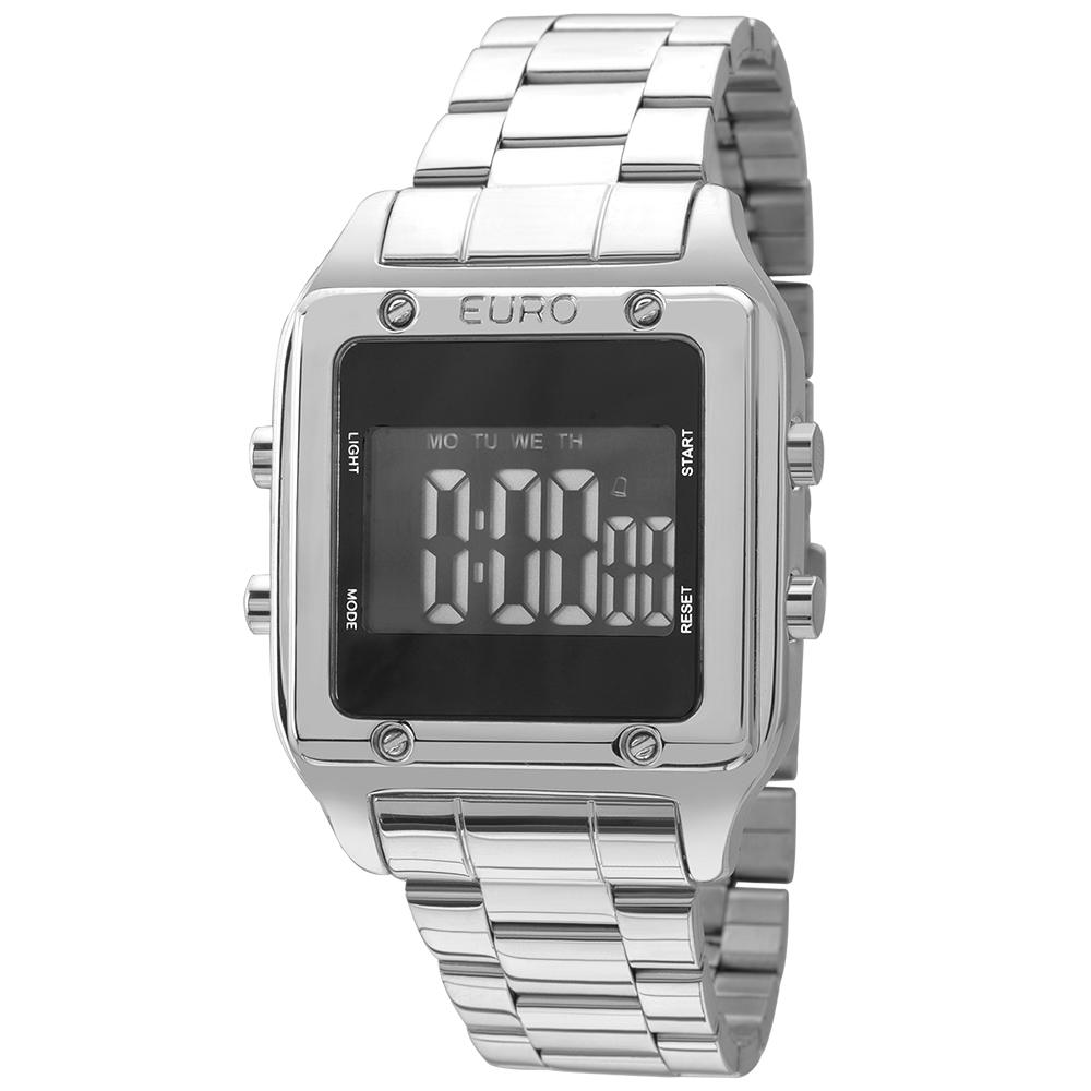 Relógio Euro Feminino Prata Digital