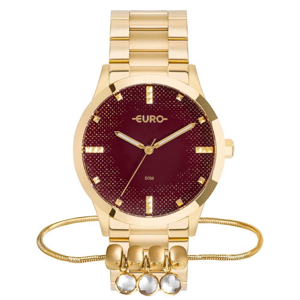 Relógio Euro Feminino Soul Dourado Analógico