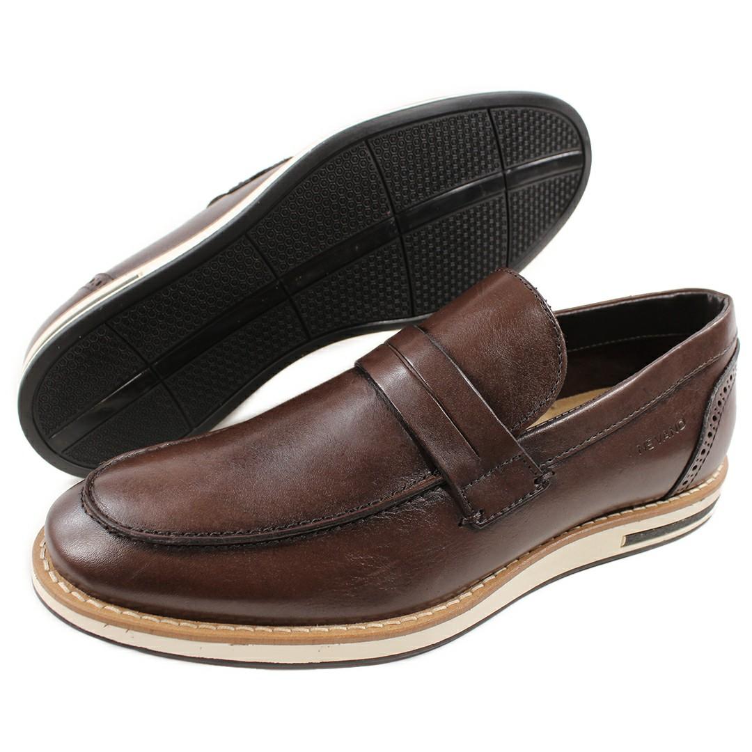 Sapato Casual Masculino Nevano Café Mogno