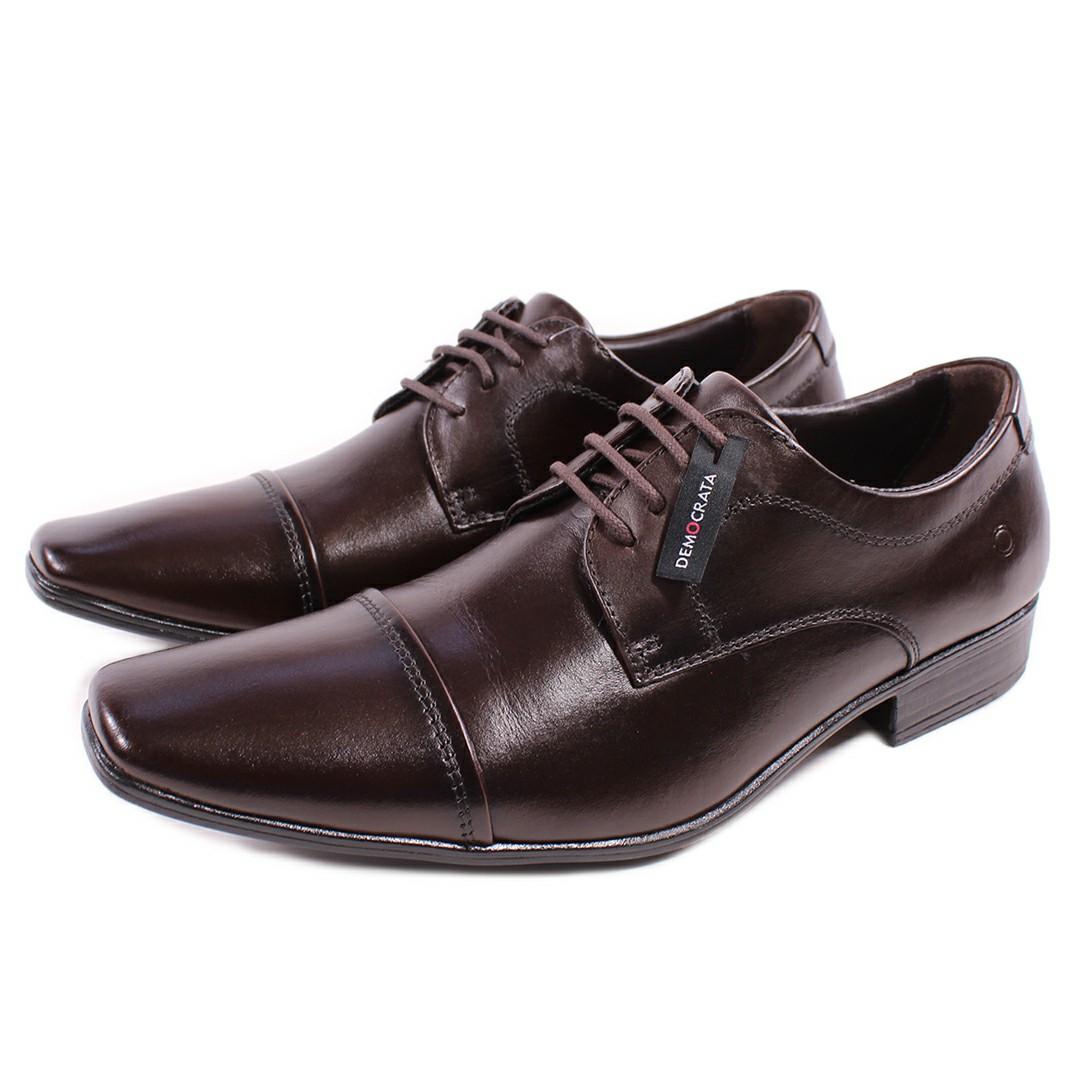 Sapato De Couro Democrata Metropolitan Aspen Mahogany 450052-002